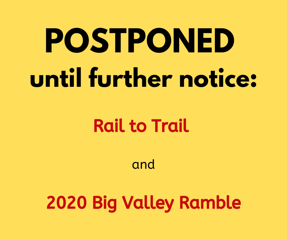 All events postponed until further notice