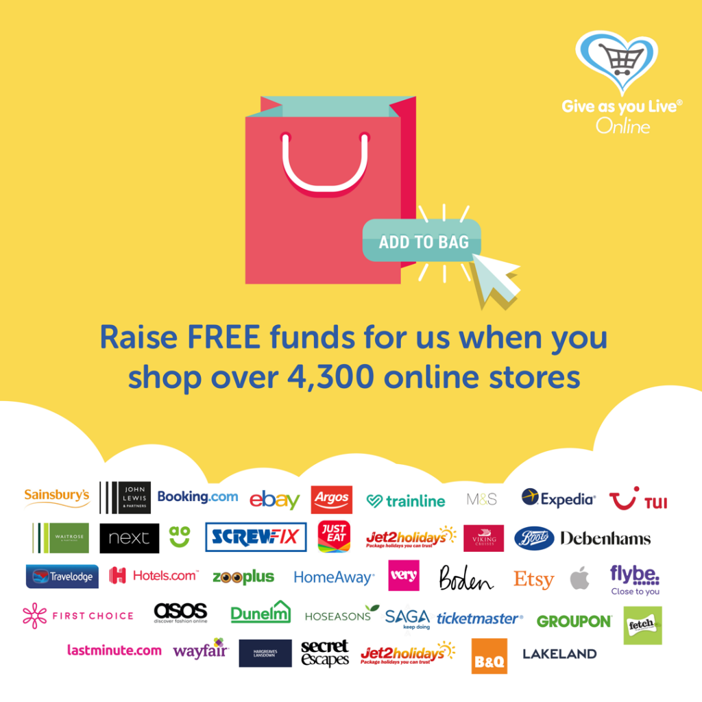 Give as You Live – shop now!